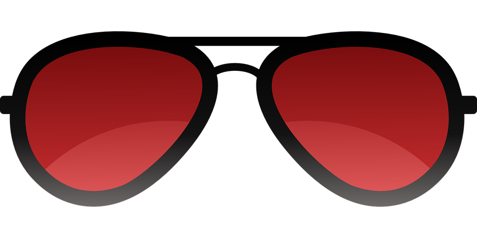 Cartoon Black Cat With Red Goggles