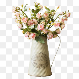Decorative Metal Flower Pot, Iron Vase, Flower, Kettle PNG Image And Clipart - PNG HD Vase Of Flowers