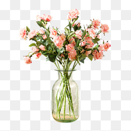 fig flower vase flower material, Flowers, Vase, Flowers Creative Figure PNG Image and