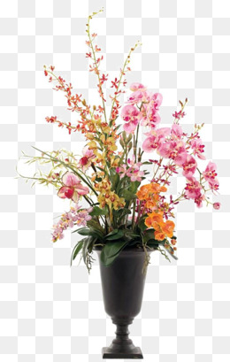 Phalaenopsis Flower Vase Decorated Soft Furnishings Installed, Flowers, Vase,  Butterfly PNG Image And - PNG HD Vase Of Flowers