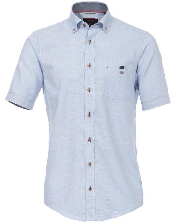 Casa Moda - Casual Fit - Herren Halbarm Struktur Hemd mit Button-Down  Kragen (962435900 A) - PNG Hemd