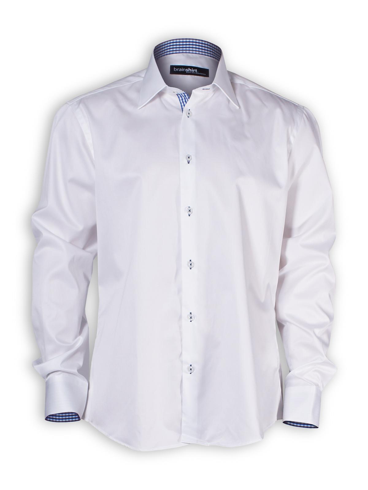 Hemd KarmaKonsum von brainshirt in weiß - PNG Hemd