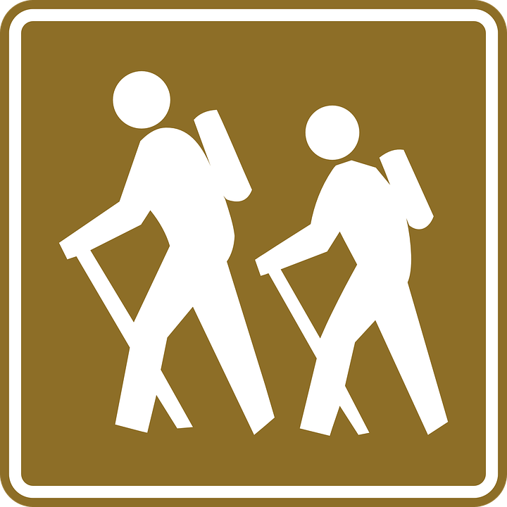 Hiking, Sign, Hike, Signage, Tourist, Recreation - PNG Hiker Free