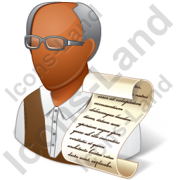 Historian Male Dark Icon, PNG/ICO, 256x256 PlusPng.com  - PNG Historian
