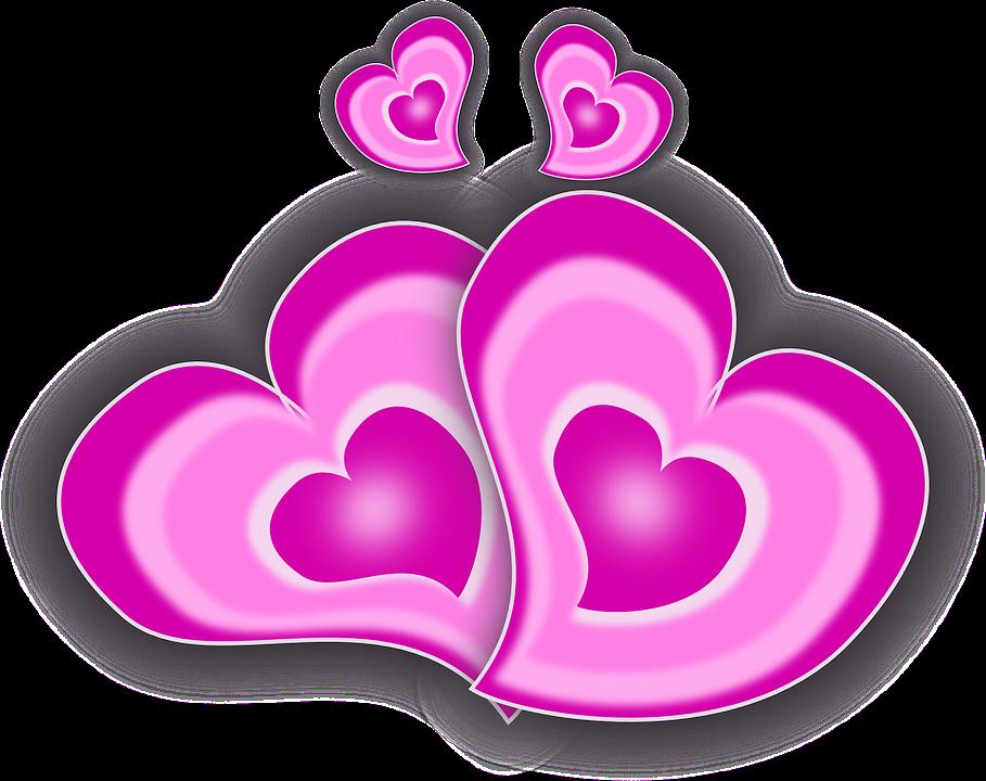 Elsker, Følelser, Hjerter, Bryllup, Valentinsdag - PNG Hjerter Bryllup