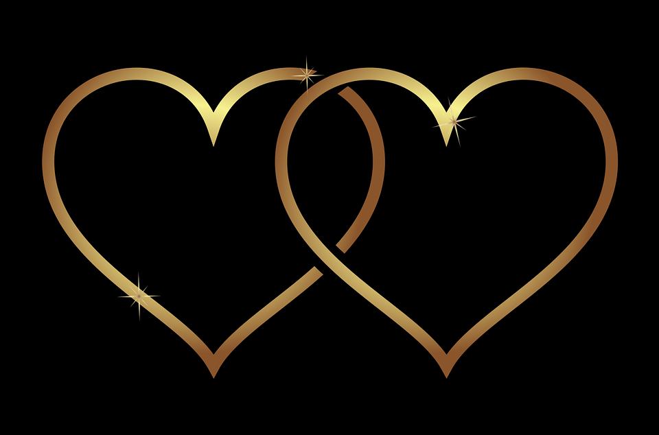 Hjerte, Hjerter, Elsker, Bryllup, Guld, Gradient, Plus - PNG Hjerter Bryllup