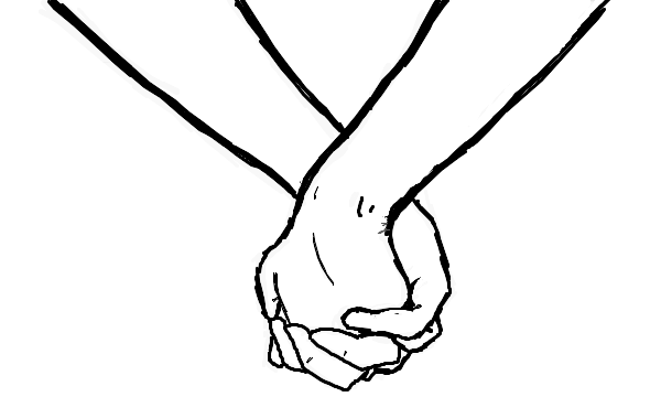 Couple Holding Hands Drawing | - PNG Holding Hands