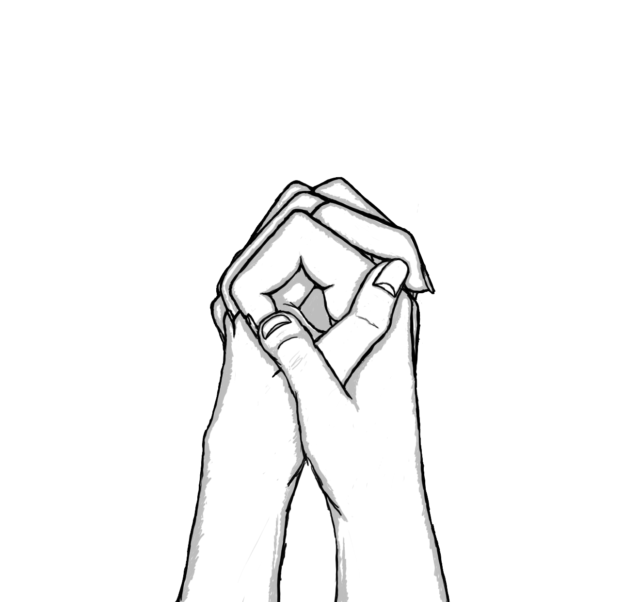 Drawings of People in Love | holding hands 2 by pspleo digital art drawings  people 2010 - PNG Holding Hands