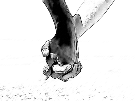 she smiled at him - PNG Holding Hands