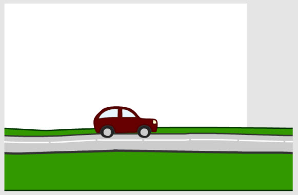 Positioning the car and the road - PNG Horizontal Road