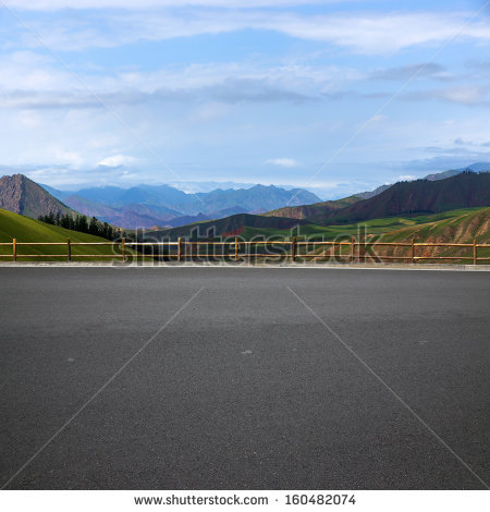 Road and mountain background - PNG Horizontal Road