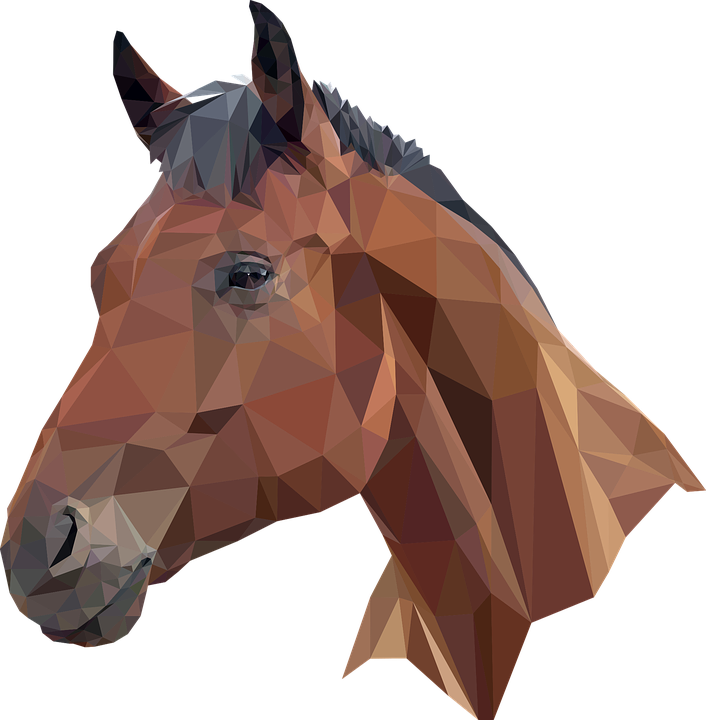 horse head equine low poly - PNG Horse Head