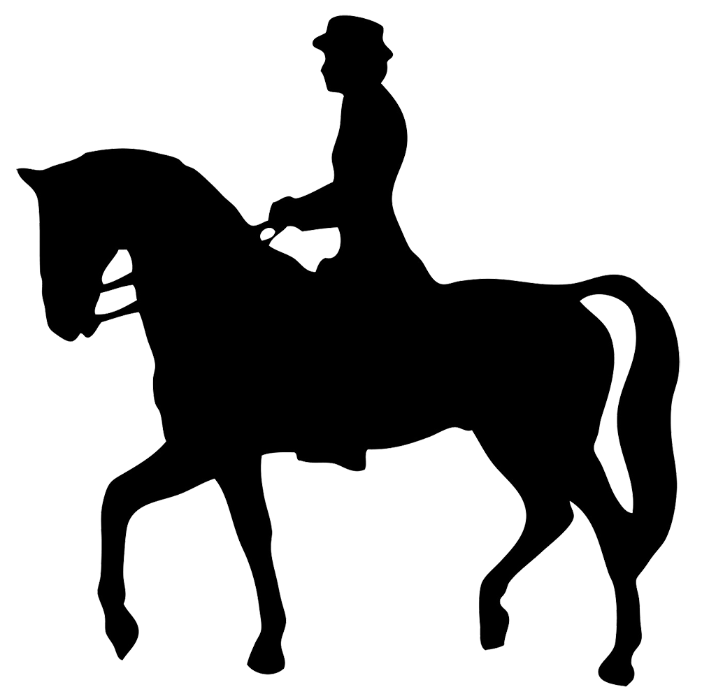 Clipart Horse And Rider Silhouteet - PNG Horse Riding