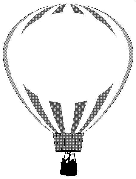 PNG Hot Air Balloon Black And White - 52719