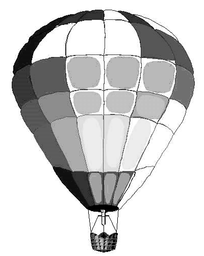 PNG Hot Air Balloon Black And White - 52714