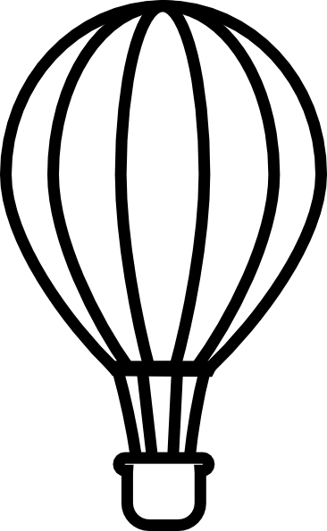 PNG Hot Air Balloon Black And White - 52709