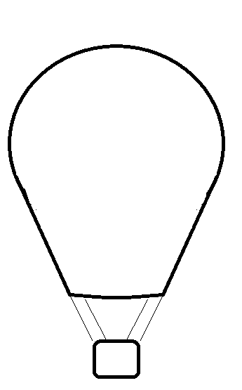 PNG Hot Air Balloon Black And White - 52717