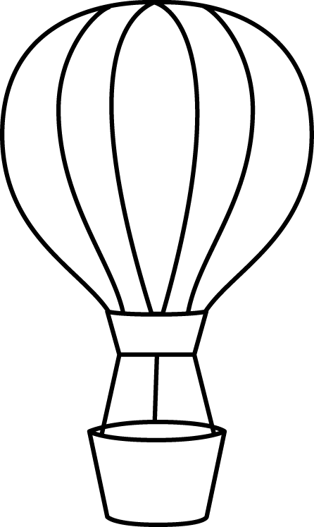 PNG Hot Air Balloon Black And White - 52710
