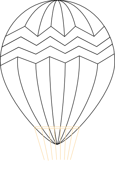 PNG Hot Air Balloon Black And White - 52711