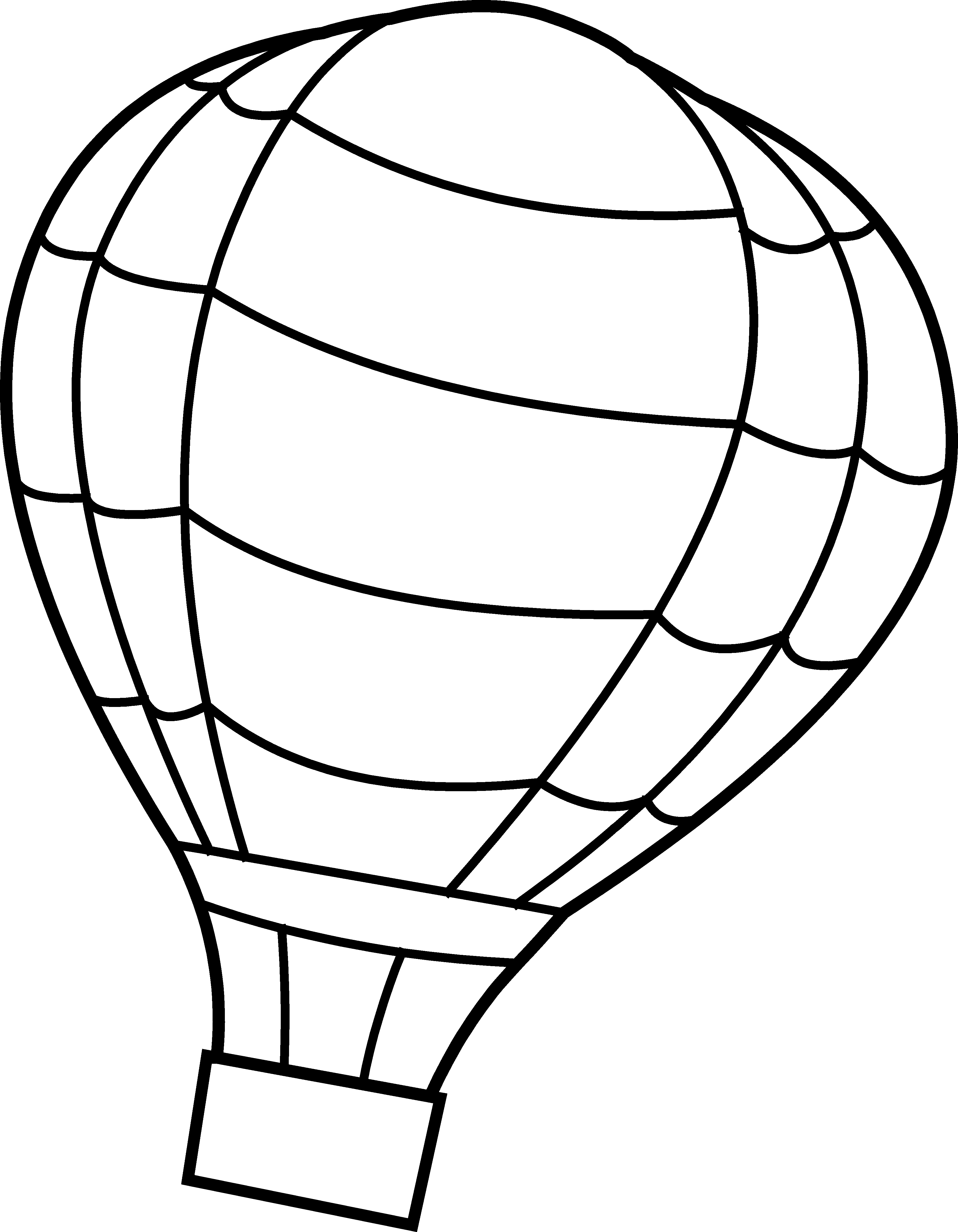 PNG Hot Air Balloon Black And White - 52723