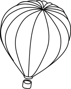 PNG Hot Air Balloon Black And White - 52713