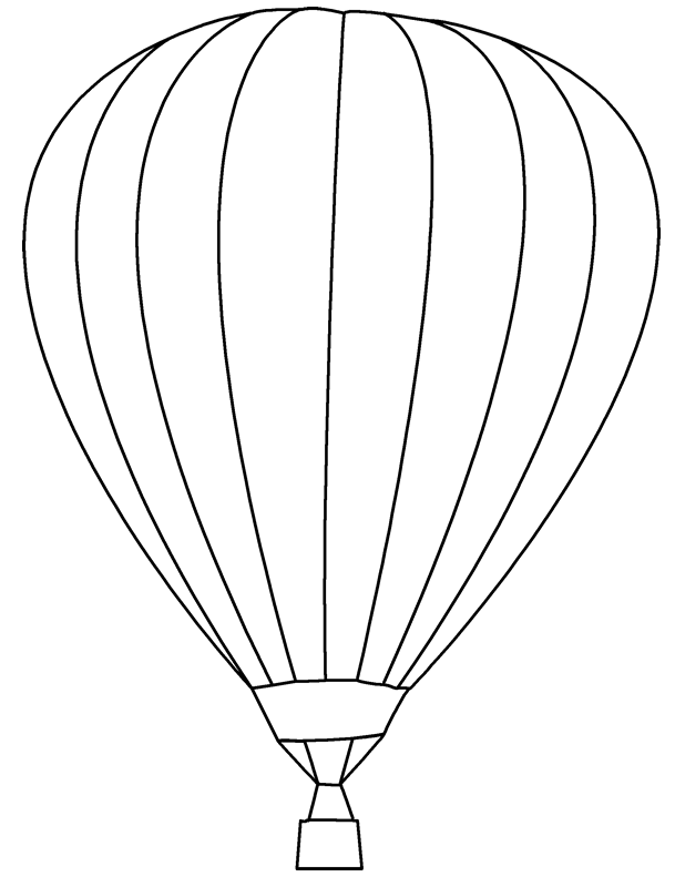 PNG Hot Air Balloon Black And White - 52720