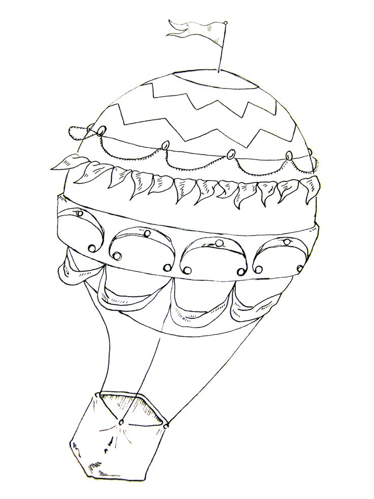 PNG Hot Air Balloon Black And White - 52722
