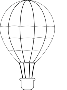 PNG Hot Air Balloon Black And White - 52718