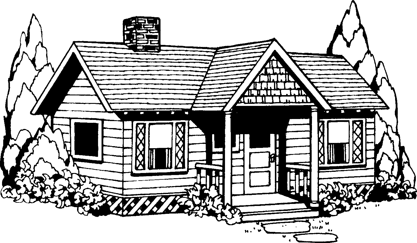 House black and white building clipart black and white - PNG House Black And White