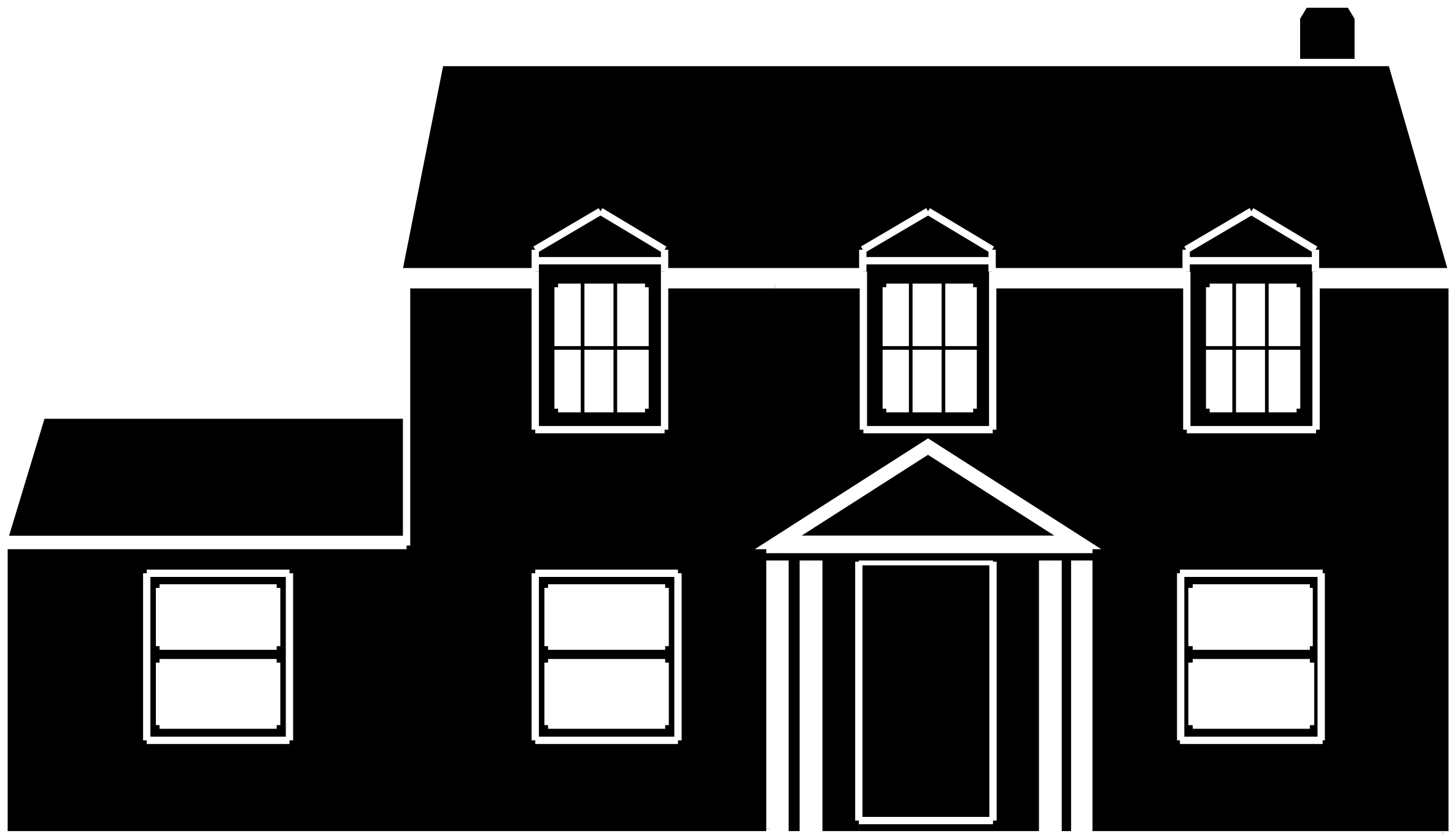 House black and white clipart black and white house - PNG House Black And White