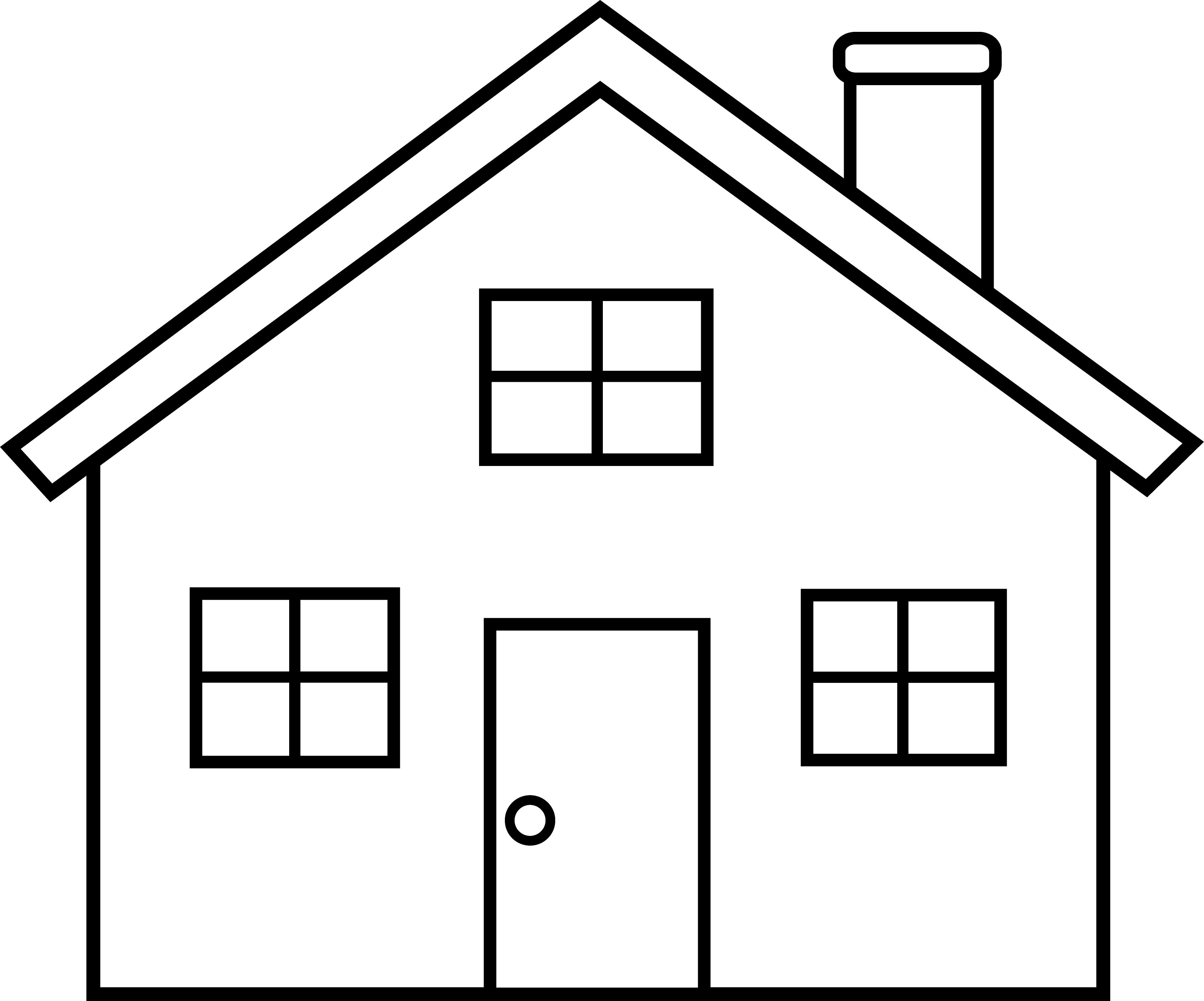 Line - PNG House Black And White