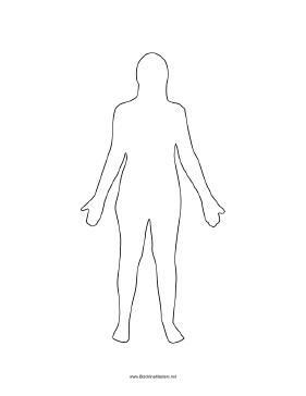 PNG Human Body Outline-PlusPNG.com-281 - PNG Human Body Outline