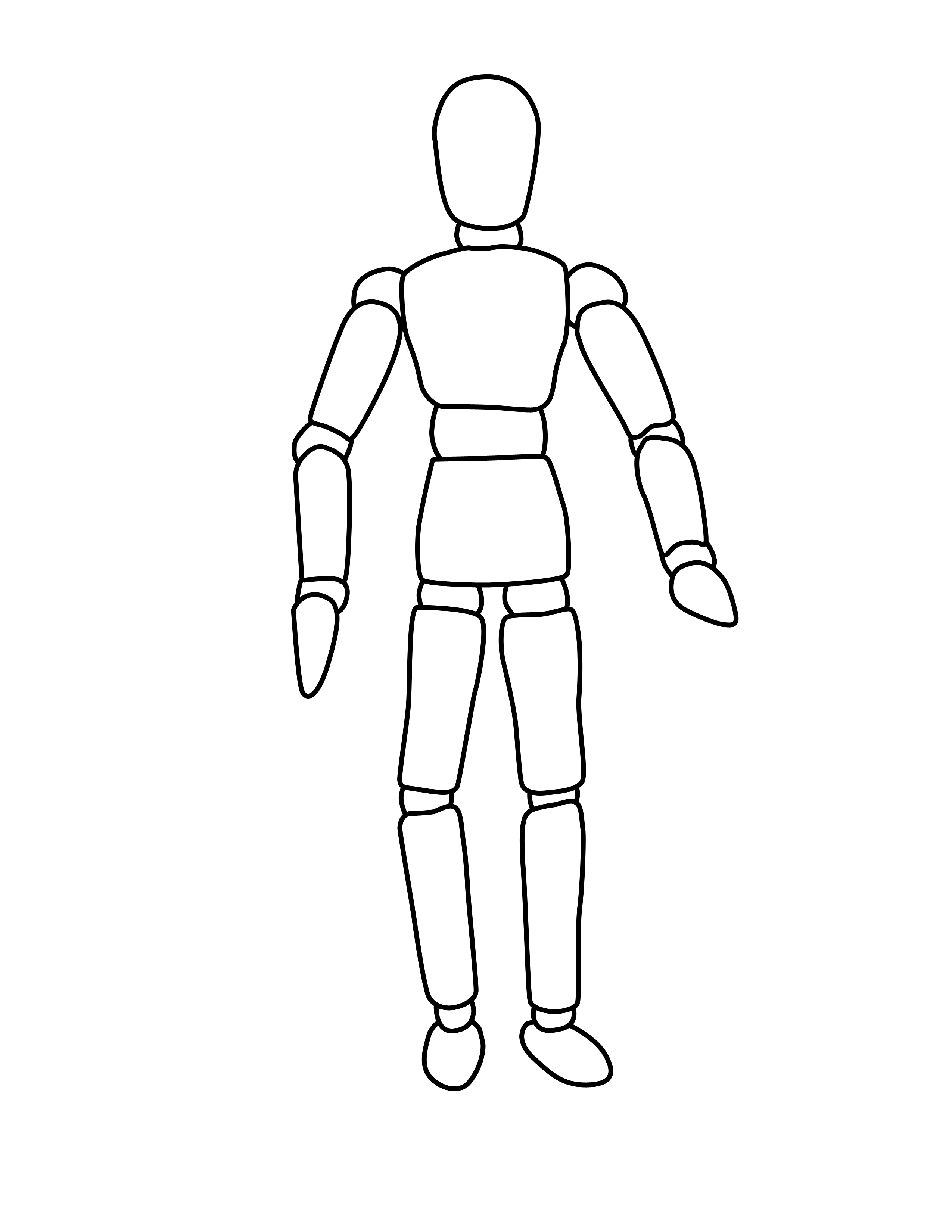 Body Outline #1660381 - PNG Human Body Outline