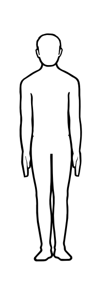 Body Outline Cliparts #2473421 - PNG Human Body Outline