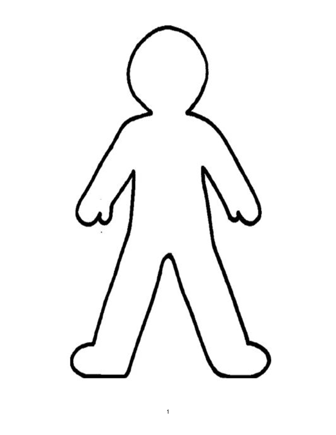 Doll Outline Template - ClipArt Best - PNG Human Body Outline