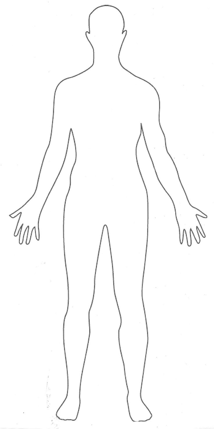 outline picture parts of the human body great for students to draw their interpretation of