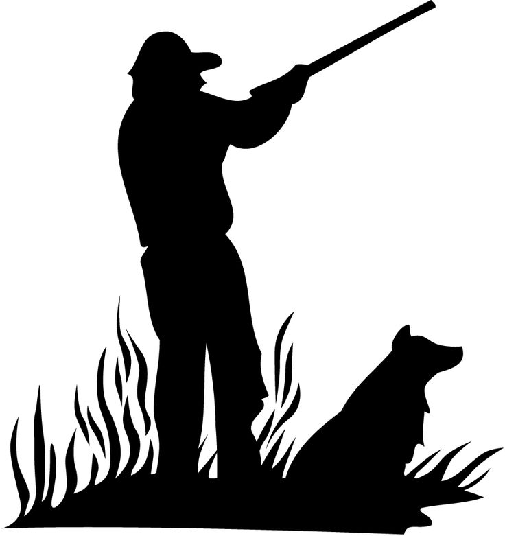 Hunter and Dog Silhouette (Small).