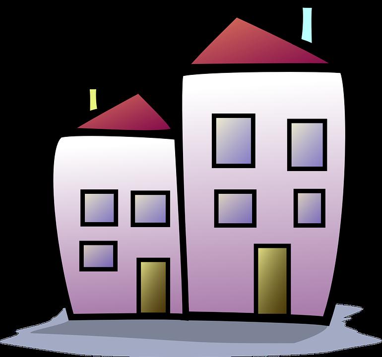 Højhus, Hus, Lejlighed Hus, Multi-Story Bolig - PNG Hus