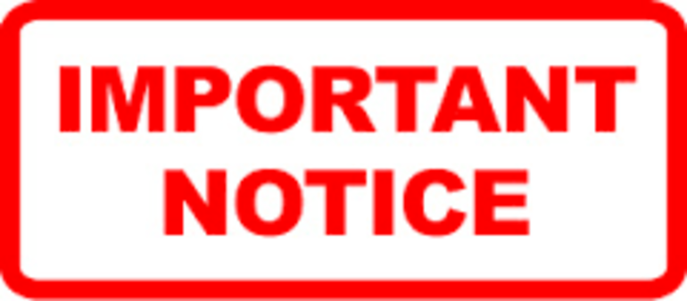 PNG Important Notice - 50739