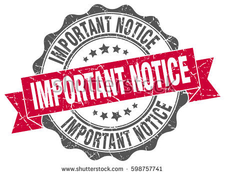 important notice. stamp. sticker. seal. round grunge vintage ribbon important  notice sign - PNG Important Notice