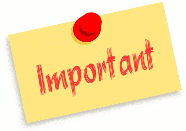 important reminder clipart - PNG Important Notice