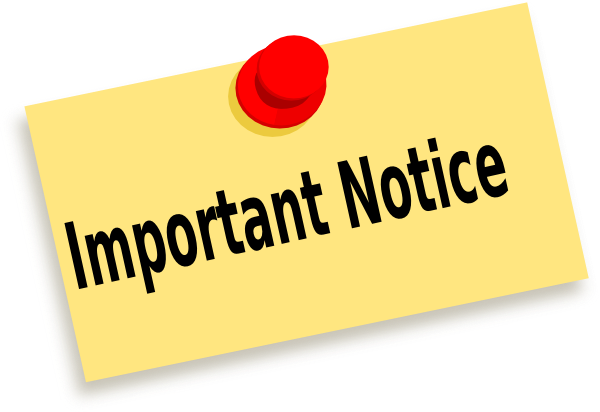 PNG Important Notice - 50737