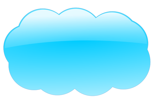 Blue cloud PNG Clip arts - PNG Internet Cloud