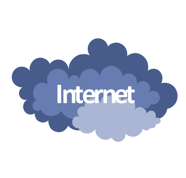 Internet cloud cliparts · In
