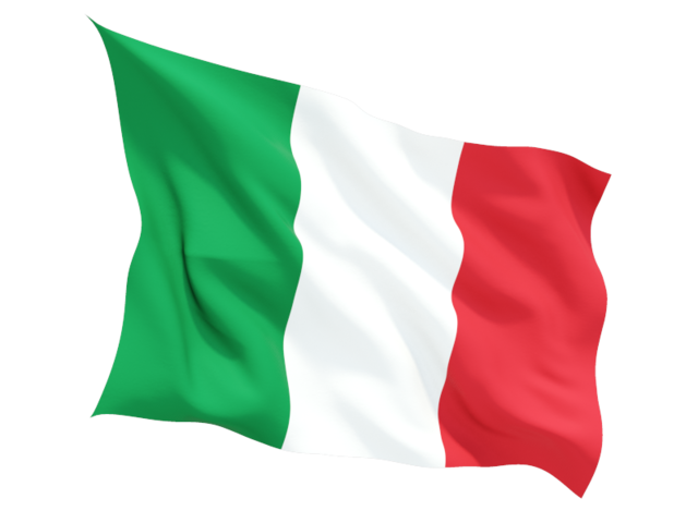 Fluttering flag. Download flag icon of Italy at PNG format - PNG Italian Flag