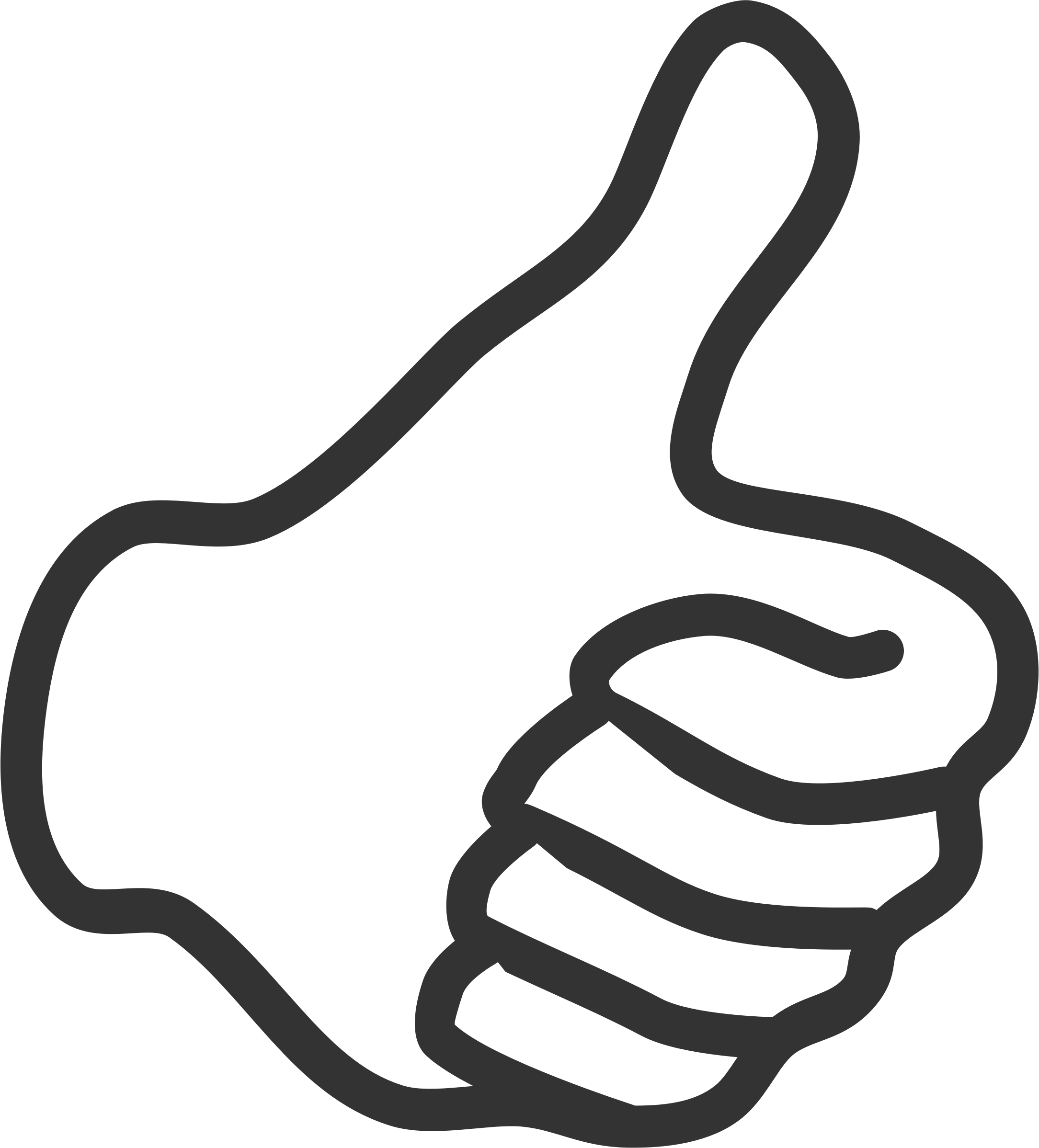 Clipart - Thumb up - white - PNG Jempol