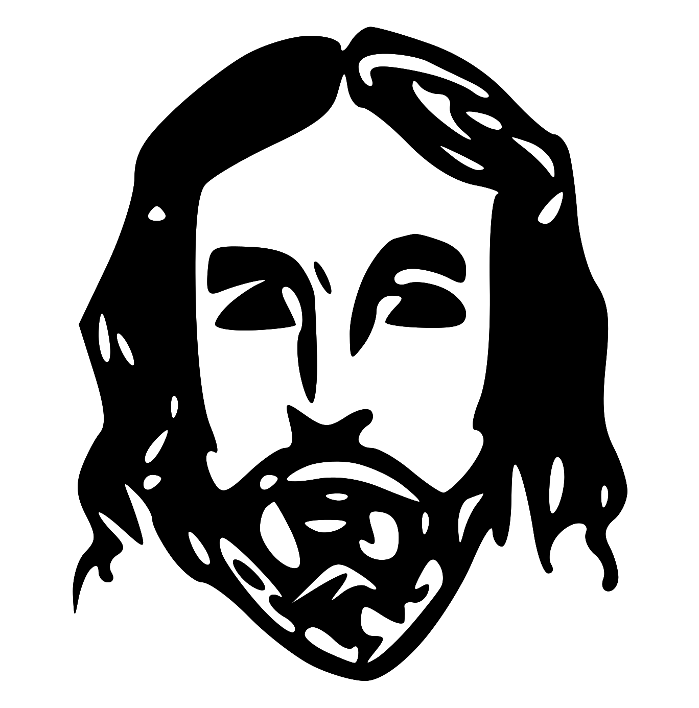 Baby jesus clipart putes dynu - PNG Jesus Face