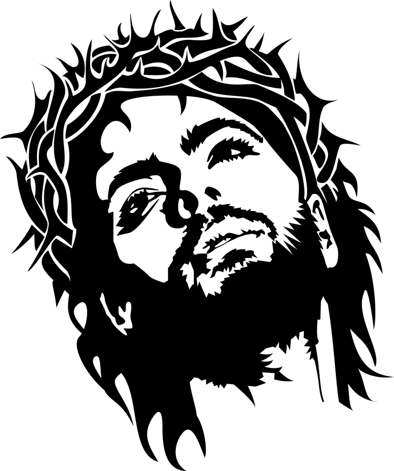 Jesus Christ Face Vector Imag