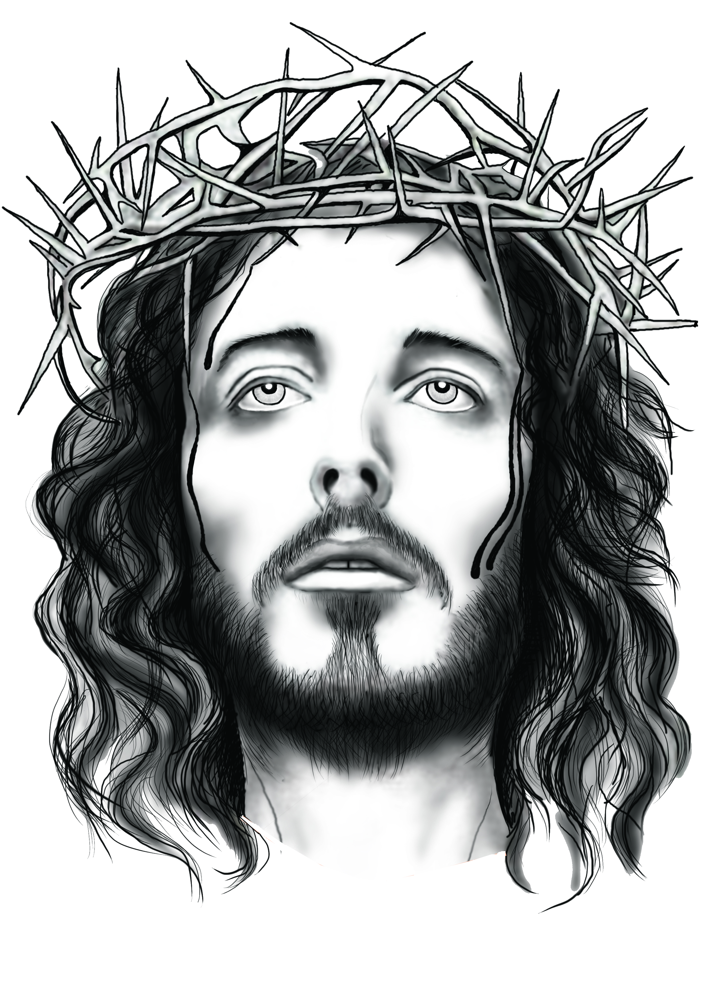 Jesus Clip Art Black And Whit