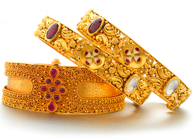 Exclusive Jewellery - Gold Bangle Designs - PNG Jewellery